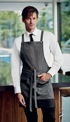 Simon Jersey denim apron £14.39 // Waiter apron, waitress apron, housekeeping apron, bar apron, hospitality uniform, waiting uniform, bar uniform, denim apron