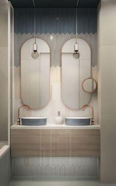 Beautiful tiles in pastel colors in our apartment interior design for couple) #bathroom #tile #pastelcolors #design #interior #architecture