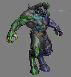 rigging animation 3d model