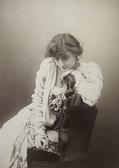 Cora Brown Potter (1857-1936) - American Socialite and Actress. Circa 1880-1890.