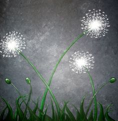 Make 3 wishes for 2013!  Make a Wish - Artisth Nancy DESPINS Make A Wish, How To Make, Pear, Dandelion, Prints, Flowers, Blue, Pattern, Floral