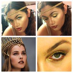 Immortals inspired makeup. Greek Goddess Athena!