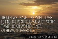Ralph Waldo Emerson | HOME SWEET WORLD