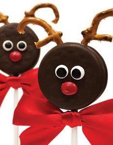 Santa's Reindeer Pops. Serves 12, Prep Time: about 45 minutes.