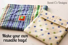 Make your own reuseable snack bags!