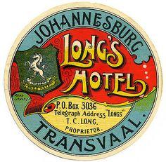 AFRICA Sud Africa - Johannesburg - Long's Hotel | Flickr 1900