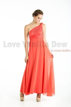 Bridesmaid Dress Infinity Dress Coral with by LoveVanillaDew