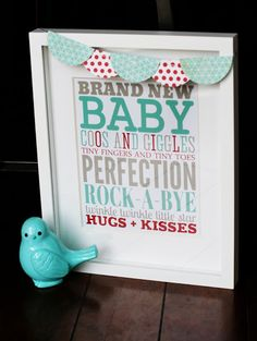 [baby week] subway art -- cute for a baby shower decoration or frame it for a gift Baby Subway Art, Free Printable Art, Free Printables, Printable Crafts, Baby Weeks, Home And Deco, Free Baby Stuff, Baby Crafts, Album