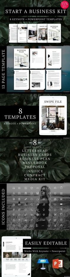 Use this collection of 8 branding templates to jump start your business!