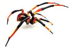Spider Animals Glass, Art Glass, Blown Glass, Sculpture Made Of Glass, blown glass figurine