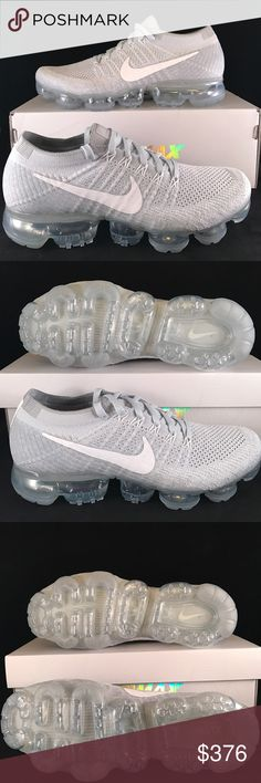 NIKE AIR VAPORMAX FLYKNIT MEN Fly past the competition in your next race in the Nike® Air VaporMax Flyknit running shoes. By removing unnecessary elements from the shoe and only adding cushion where it's needed most, Nike® has created the lightest, most flexible Air Max running shoe yet perfect for crushing old records. VaporMax Air technology provides soft, lightweight responsiveness while Flywire technology makes for a comfortable lockdown fit mile after mile. Nike Shoes Sneakers