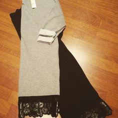Abiti in felpa one size nero e grigio euro19 #valeria #abbigliamento
