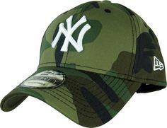 New Era 940 League Essential NY Yankees Baseball Cap Woodland Camo 9a8a96793e2