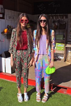 Loving the two piece outfits. Look Fashion, Fashion Outfits, Womens Fashion, Fashion Trends, 60s Inspired Fashion, 1960s Inspired, Psychedelic Fashion, Psychedelic Art, Estilo Blogger