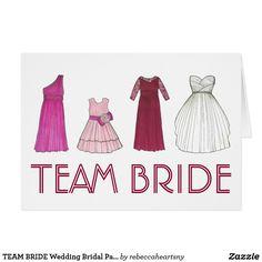 TEAM BRIDE Wedding Bridal Party Invitation Card