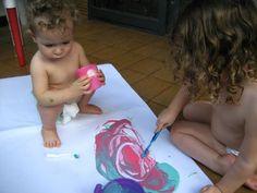 """Ensine seu filho: 5 Receitas de Tintas """"Comestíveis"""" Superfáceis para o Seu Bebê"""