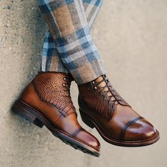 Irwin Boot  from @taft and plaid pants from Zara  #boots #footwear #shoes #taft #zara