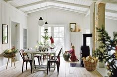 In love with this room, though I'd prefer a brick fireplace, let's move to Denmark!