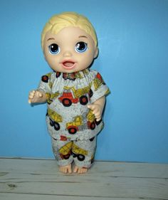 Your place to buy and sell all things handmade Baby Alive Doll Clothes, Boy Doll Clothes, Baby Alive Dolls, All The Way Down, Toddler Outfits, Mickey Mouse, Truck, Pajamas, Kitty