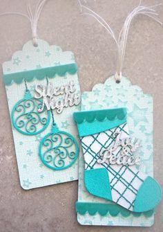 Handmade Christmas gift tags #christmascraft