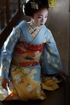 A senior maiko during November