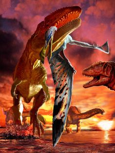 Carcharodontosaurus, Ornithocheirus y Paralititan de Luis Rey