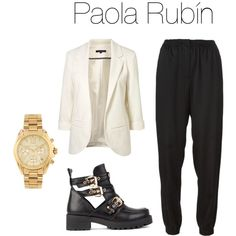 Untitled #50 by pao-xox on Polyvore featuring polyvore fashion style Cédric Charlier Michael Kors