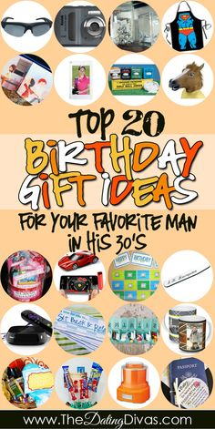 Check out The Dating Divas Birthday Gift Guide for your Favorite Man in his 30's. Our top 20 best gifts.  www.TheDatingDivas.com #birthday #giftguide #forhim