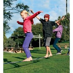 Slackline - Hours of outdoor fun honing their balancing skills and improving their confidence.