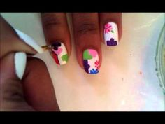 Video -  Nail Art: Spring Puzzle