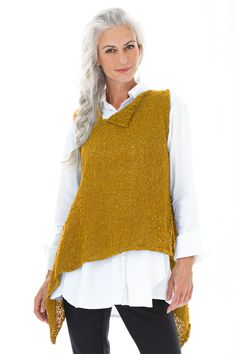 Spark Vest by Amy Brill Sweaters – Lapis, One Size (Knit Sweater) Spark Vest by Amy Brill Sweaters (Knit Sweater) Knit Vest Pattern, Sweater Knitting Patterns, Knitting Designs, Vogue Knitting, Look Fashion, Fashion Outfits, Sweater Refashion, Knitting Kits, How To Purl Knit