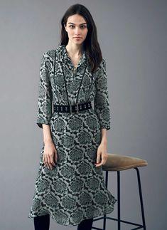 Beaded Silk Chiffon Dress