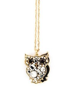 crystal owl pendant <3