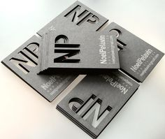 """A cutout is a cool businesscard touch 