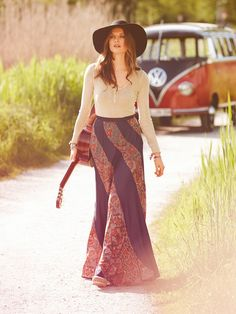 Swirl Maxi Skirt - Bohemian Collection 10/2013 Burda Style