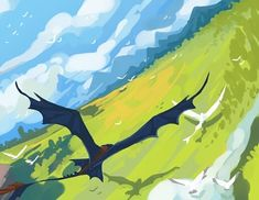 Rough draft/thumbnail for a larger drawing I might do? I'm so excited I get to… How To Train Dragon, How To Train Your, Fantasy Dragon, Dragon Art, Httyd, Hiccup, Night Fury Dragon, Beautiful Landscape Wallpaper, Rough Draft