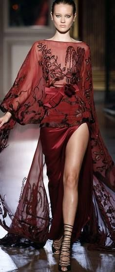 Zuhair Murad   For the Mother of a bride dress, I would have the slit sewed up to the knee.