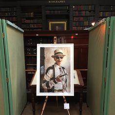 Robert Walker photograph at The Portico Library, MCR.