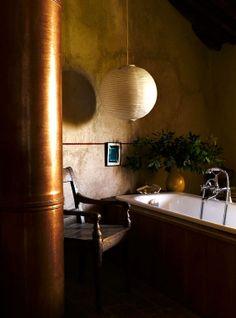 Castello diVicarello — modern /rustic bath in #dreamhouseoftheday