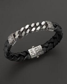 John Hardy Men's Sterling Silver Classic Chain Gourmette Medium Link Id Bracelet