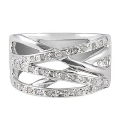 I am absolutely in love with the Sterling Silver 1/4 cttw Diamond Cris-Cut Ring from #jewelexclusive