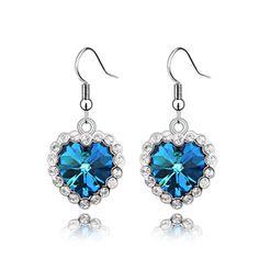 Swarovski crystal earrings the heart of the ocean  From Crystaljewelryuk.com