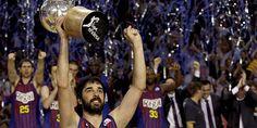 Barcelona 73 - Real Madrid 69. El Barça, campeón de la Liga Endesa al imponerse en el quinto partido al Real Madrid.