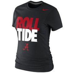 Nike Alabama Crimson Tide Ladies Roll Tide 2013 Local T-Shirt - Black