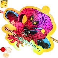 Rakhis Online - Spiderman light Rakhi