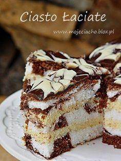 Ciasto Łaciate Polish Desserts, Polish Recipes, Cookie Desserts, Cake Cookies, Cupcake Cakes, Savarin, Sweet Tarts, Sweets Recipes, Food Design
