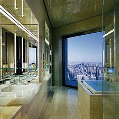 High rise loft bathroom