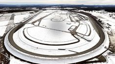 Talladega Super Speedway January 2014..caption on photo said melt down had begun...so this was not an initial picture of the snow there.