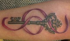 What does key tattoo mean? We have key tattoo ideas, designs, symbolism and we explain the meaning behind the tattoo. Unique Tattoos, New Tattoos, Tattoos For Guys, Tattoos For Women, Tatoos, Awesome Tattoos, Girl Tattoos, Chris Garver, Compass Tattoo