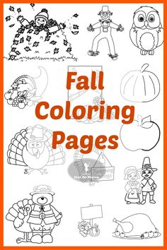 13 Free Fall Coloring Pages. Easy to print and download for a quick, fun fall activity!